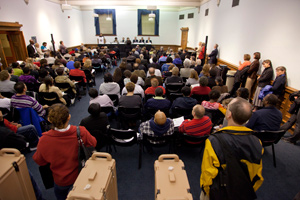 The October 1 Town Hall Meeting.