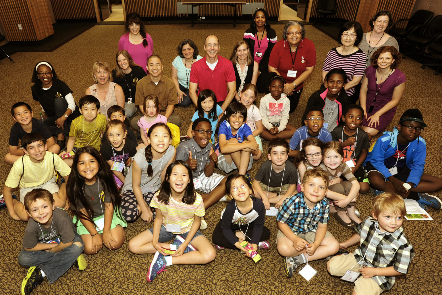 NIEHS staff and children enjoyed a wide variety of activities during Bring Your Kids to Work Day.