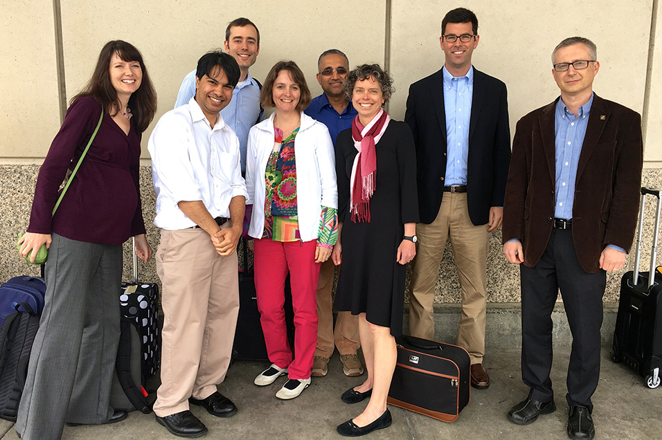 Cheryl Rockwell, Ph.D., from Michigan State University; Somshuvra Mukhopadhyay, M.B.B.S , Ph.D., of the University of Texas at Austin; Daniel Gorelick, Ph.D., of the University of Alabama at Birmingham; Dydak; Aluru; Porucznik; Mack; and Alexander Star, Ph.D.