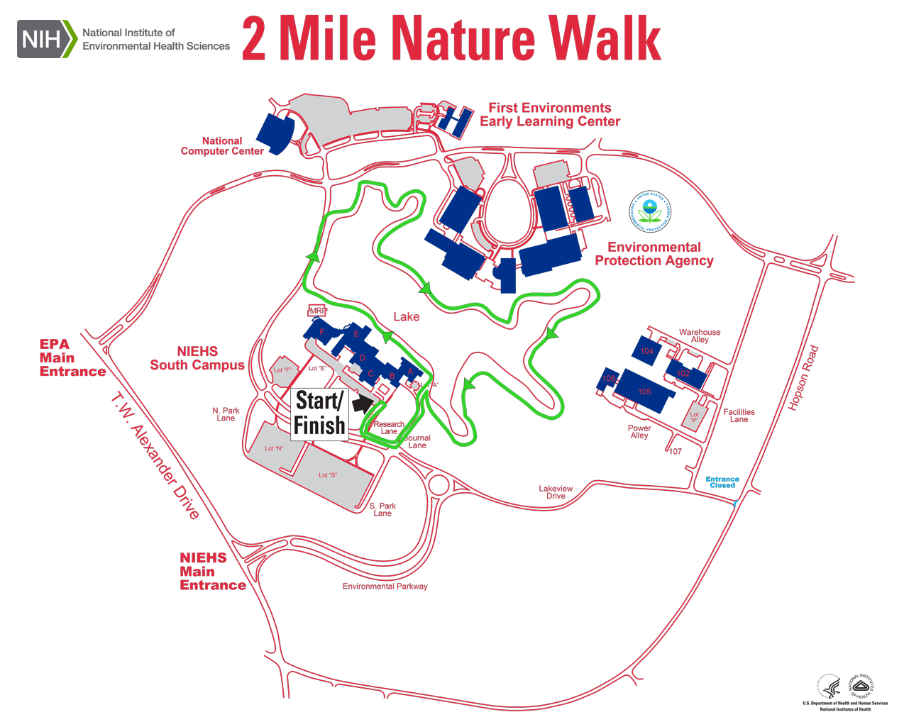 Map of the Nature Walk train around Discovery lake