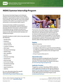 NIEHS Summer Internship Program