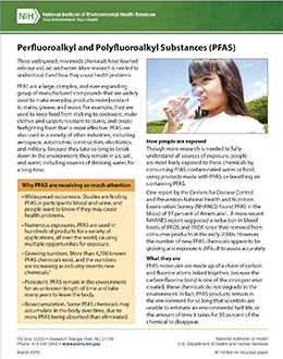 Perfluoroalkyl and Polyfluoroalkyl Substances (PFAS)