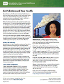 Air Pollution and Your Health