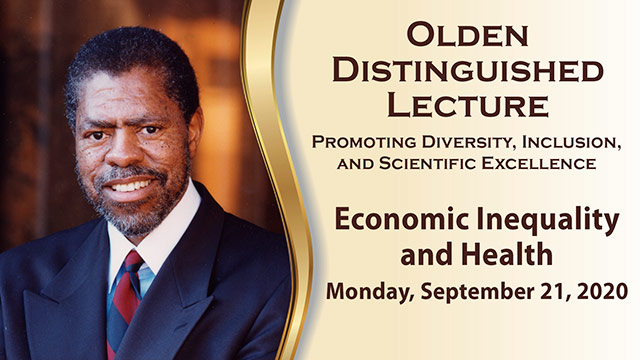 Olden Distinguished Lecture – September 21, 2020