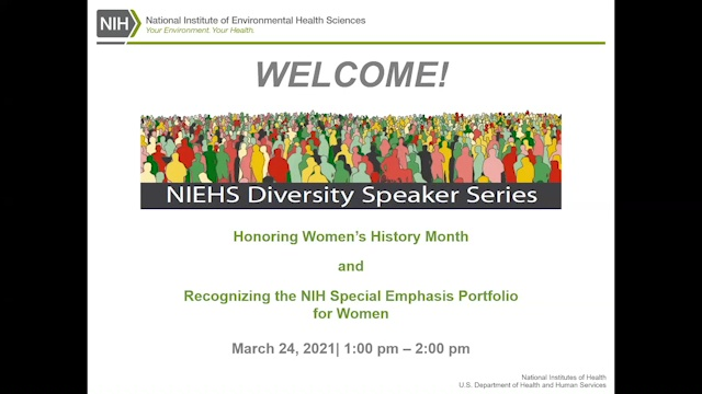 2021 NIEHS Diversity Speakers Series: NIH Special Emphasis Portfolio for Women - March 24, 2021