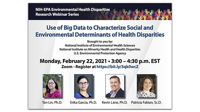 NIH-EPA Environmental Health Disparities Research Webinar Series