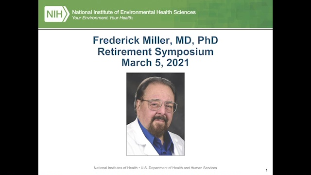 Frederick Miller Retirement Symposium - March 5, 2021