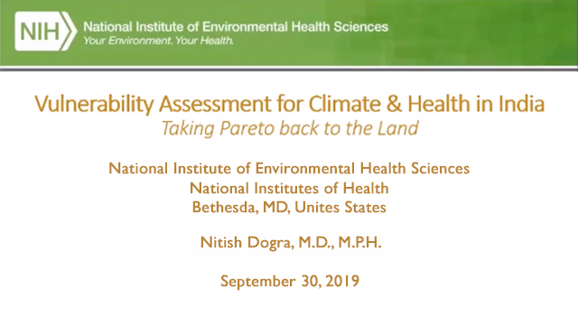 Vulnerability Assessment for Climate & Health in India, September 30, 2019