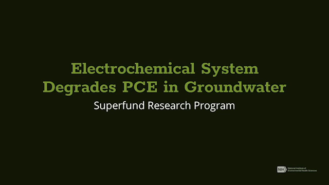 Electrochemical System Degrades PCE in Groundwater