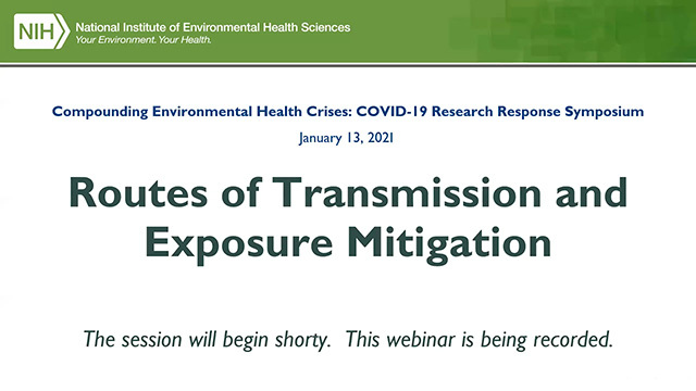 Routes of Transmission and Exposure Mitigation - January 13, 2021