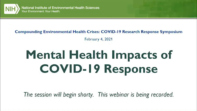 Mental Health Impacts of COVID-19 Response