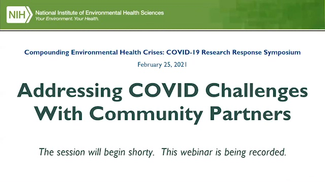 Addressing COVID Challenges with Community Partners - February 25, 2021