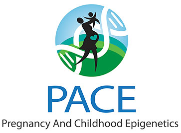 PACE Pregnancy and Childhood Epigenetics, mom and baby illustration