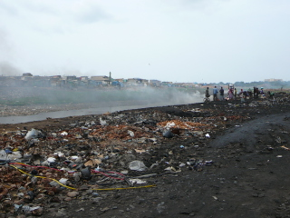 The Agbogbloshie e-waste site in Accra, Ghana