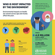 WHO Infographic: Who is the most impacted by the environment?