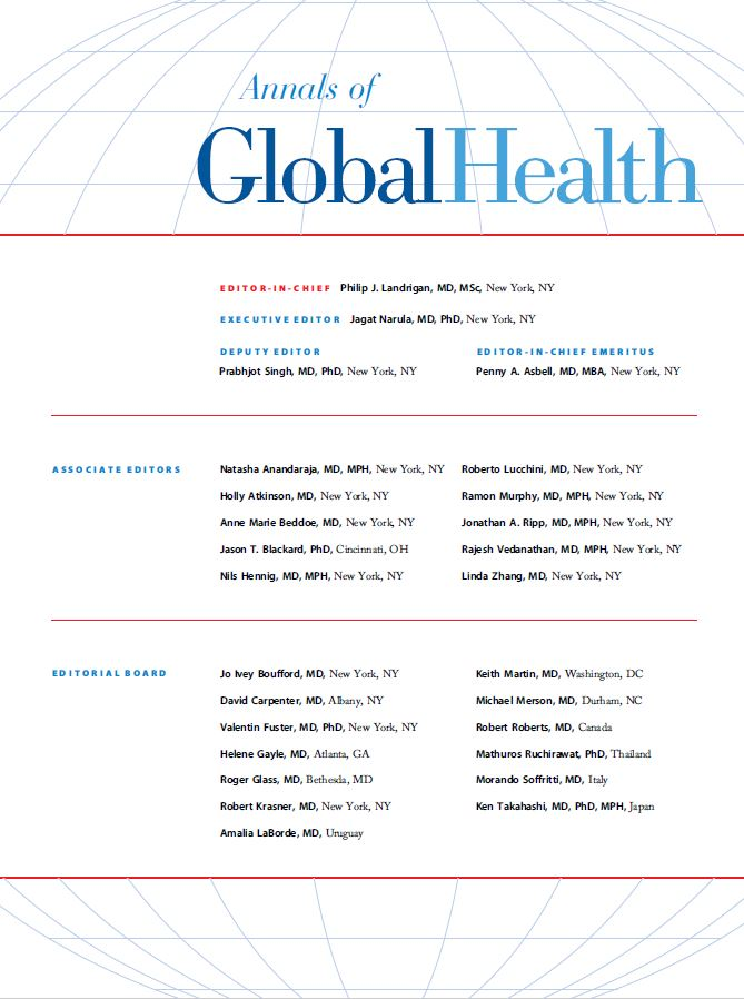 Annals of Global Health - Cover