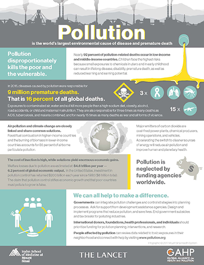 A Commission on Pollution infographic