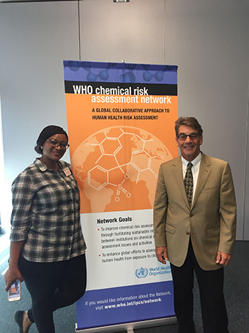 Senai and Weis at the Chemical Risk Assessment Network Meeting