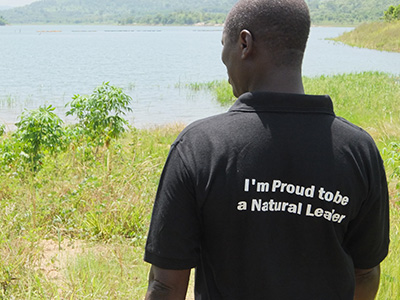 A trained natural leader in the Volta region, Ghana.