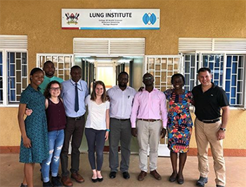Wosu, mentors, and colleagues at Makerere University Lung Institute
