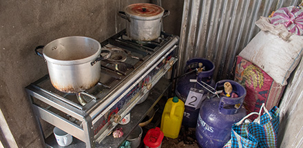 Indoor stove in Peru