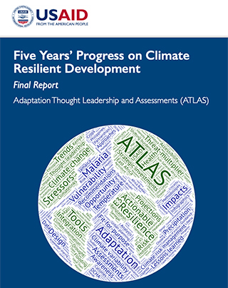 cover of USAID Five Years' Progress on Climate Resilient Development report