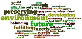 sustainable development word cloud