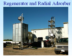 Regenerator and Radial Adsorber