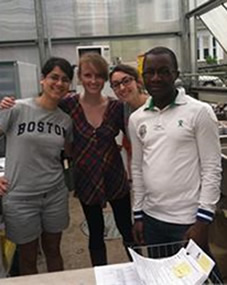 photo of Boston University SRP students