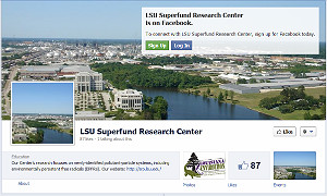 Screenshot of the LSU  SRP Facebook page