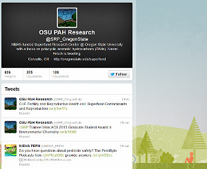 Screenshot of the OSU SRP Twitter page