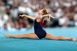 photo of competitive gymnasts