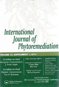International Journal of Phytoremediation Cover