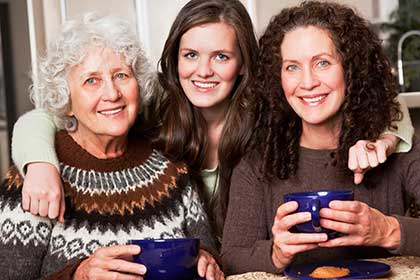 multigenerational family of women
