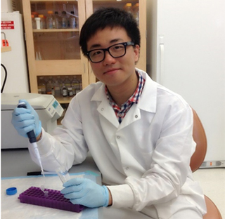 Donghai Liang, Ph.D. in lab