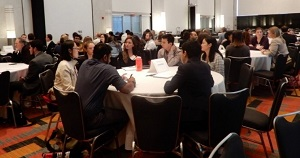Trainees at the professional introduction and networking session