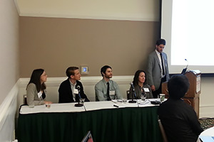 A career panel was held as part of the trainee session, moderated by Berkeley graduate student Tom Bruton.
