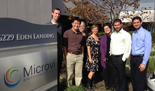 Henry with the Microvi project team