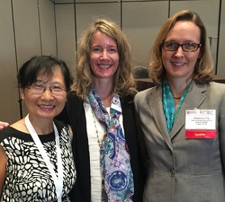 (From left): Zhang, Heacock, and Fry at the EMGS Annual Meeting.