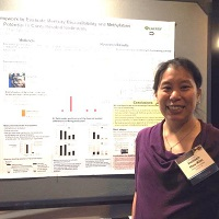 Heileen Hsu-Kim at poster session