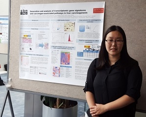 Ami Li and her poster