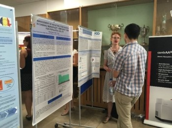 Erin Madeen at a poster session