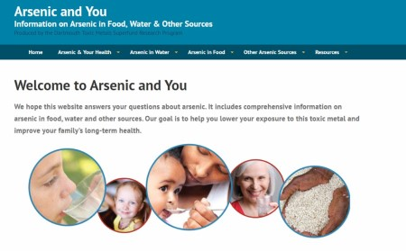 Screenshot of the Arsenic and You website