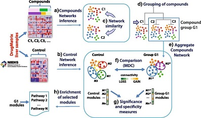 Chemical-specific compound networks and a control network