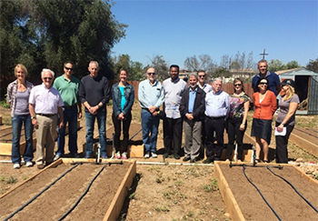 Keith Pezzoli with the Partners at the Ocean View Growing Grounds