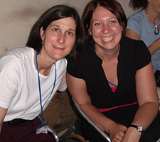 Edith Parker and Rebecca Cheezum, Ph.D. in Ghana