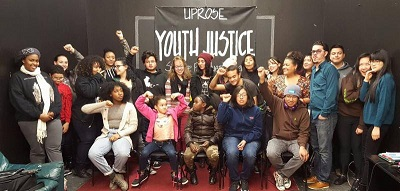 Yeampierre poses with UPROSE youth