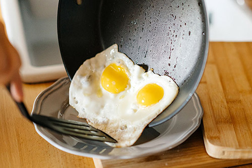 egg cooked on skillet