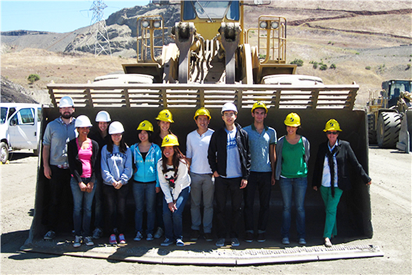Students visit the Lake Herman Stone Quarry in Vallejo, California