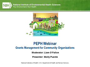 PEPH Webinar Logo - Grants Management for Community Organizations